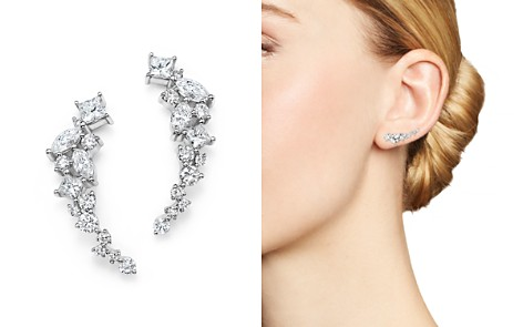 Diamond Fancy Cut Ear Climbers in 14K White Gold, 1.0 ct. t.w. - 100% Exclusive - Bloomingdale's_2